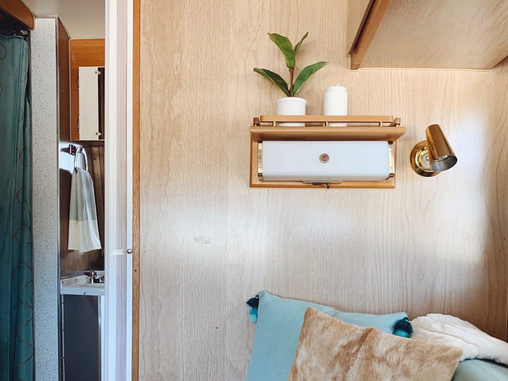 Interior of a Vintage Trailer at The Range